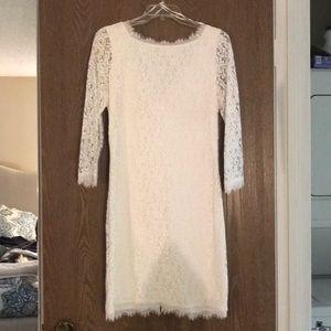 White Diane Von Furstenberg Dress
